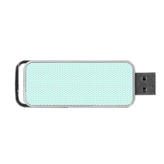 Tiffany Aqua Blue Lipstick Kisses on White Portable USB Flash (Two Sides)