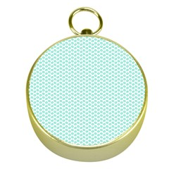 Tiffany Aqua Blue Lipstick Kisses on White Gold Compasses