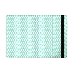 Tiffany Aqua Blue Lipstick Kisses on White iPad Mini 2 Flip Cases