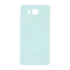 Tiffany Aqua Blue Lipstick Kisses on White Samsung Galaxy Alpha Hardshell Back Case