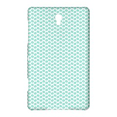 Tiffany Aqua Blue Lipstick Kisses on White Samsung Galaxy Tab S (8.4 ) Hardshell Case