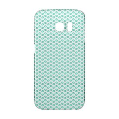 Tiffany Aqua Blue Lipstick Kisses on White Galaxy S6 Edge