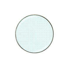 Tiffany Aqua Blue Candy Polkadot Hearts on White Hat Clip Ball Marker (4 pack)