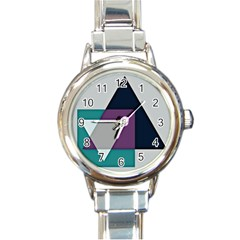 Geodesic Triangle Square Round Italian Charm Watch