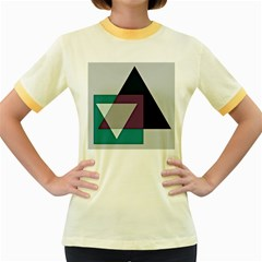 Geodesic Triangle Square Women s Fitted Ringer T-Shirts