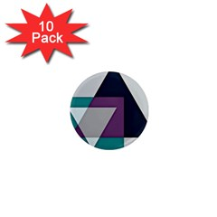 Geodesic Triangle Square 1  Mini Magnet (10 pack)