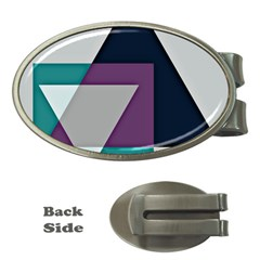 Geodesic Triangle Square Money Clips (Oval)
