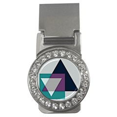 Geodesic Triangle Square Money Clips (CZ)