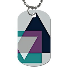 Geodesic Triangle Square Dog Tag (One Side)