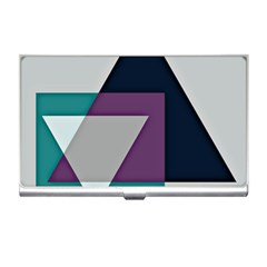 Geodesic Triangle Square Business Card Holders
