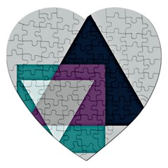 Geodesic Triangle Square Jigsaw Puzzle (Heart)