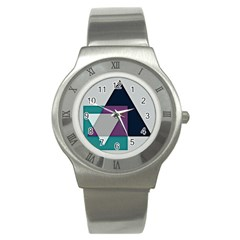 Geodesic Triangle Square Stainless Steel Watch