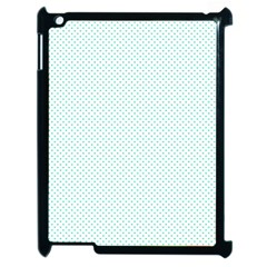 Tiffany Aqua Blue Candy Polkadot Hearts on White Apple iPad 2 Case (Black)