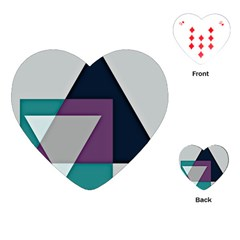 Geodesic Triangle Square Playing Cards (Heart)