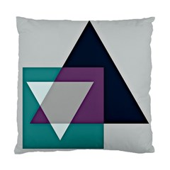 Geodesic Triangle Square Standard Cushion Case (One Side)