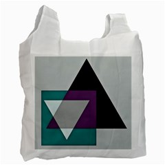 Geodesic Triangle Square Recycle Bag (One Side)