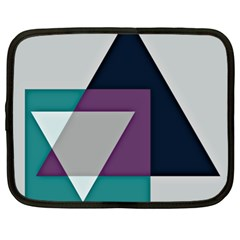 Geodesic Triangle Square Netbook Case (XL)
