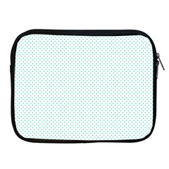 Tiffany Aqua Blue Candy Polkadot Hearts on White Apple iPad 2/3/4 Zipper Cases