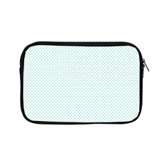 Tiffany Aqua Blue Candy Polkadot Hearts On White Apple Ipad Mini Zipper Cases