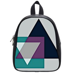 Geodesic Triangle Square School Bags (Small)