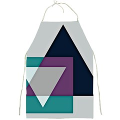 Geodesic Triangle Square Full Print Aprons