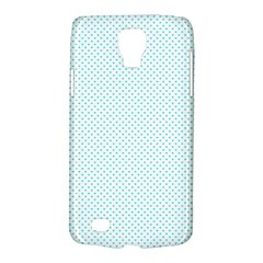 Tiffany Aqua Blue Candy Polkadot Hearts on White Galaxy S4 Active