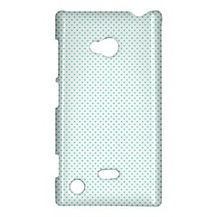 Tiffany Aqua Blue Candy Polkadot Hearts on White Nokia Lumia 720