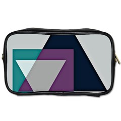 Geodesic Triangle Square Toiletries Bags 2-Side