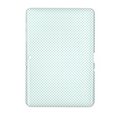 Tiffany Aqua Blue Candy Polkadot Hearts on White Samsung Galaxy Tab 2 (10.1 ) P5100 Hardshell Case