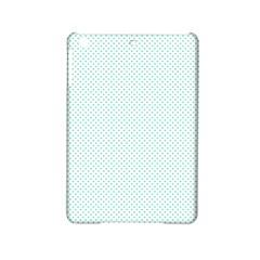 Tiffany Aqua Blue Candy Polkadot Hearts on White iPad Mini 2 Hardshell Cases