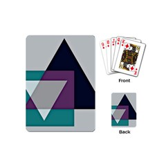 Geodesic Triangle Square Playing Cards (Mini)