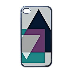 Geodesic Triangle Square Apple iPhone 4 Case (Black)