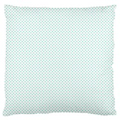Tiffany Aqua Blue Candy Polkadot Hearts on White Standard Flano Cushion Case (Two Sides)