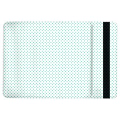 Tiffany Aqua Blue Candy Polkadot Hearts on White iPad Air 2 Flip