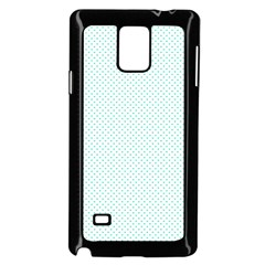 Tiffany Aqua Blue Candy Polkadot Hearts on White Samsung Galaxy Note 4 Case (Black)