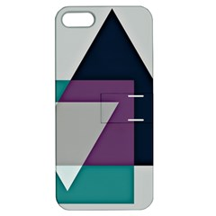 Geodesic Triangle Square Apple iPhone 5 Hardshell Case with Stand