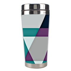 Geodesic Triangle Square Stainless Steel Travel Tumblers