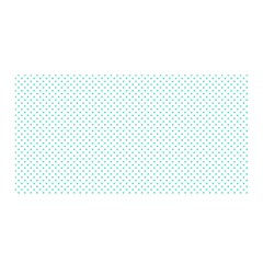 Tiffany Aqua Blue Candy Polkadot Hearts on White Satin Wrap