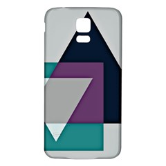 Geodesic Triangle Square Samsung Galaxy S5 Back Case (White)