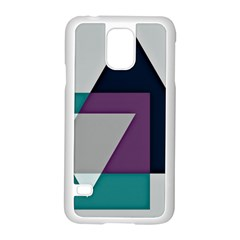 Geodesic Triangle Square Samsung Galaxy S5 Case (White)