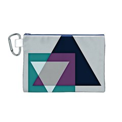 Geodesic Triangle Square Canvas Cosmetic Bag (M)
