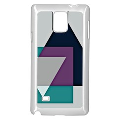 Geodesic Triangle Square Samsung Galaxy Note 4 Case (White)