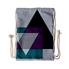 Geodesic Triangle Square Drawstring Bag (Small)