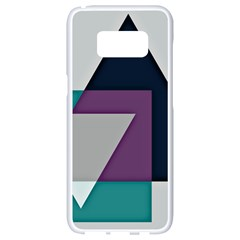 Geodesic Triangle Square Samsung Galaxy S8 White Seamless Case