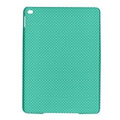 White Polkadot Hearts on Tiffany Aqua Blue  iPad Air 2 Hardshell Cases