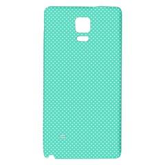 White Polkadot Hearts on Tiffany Aqua Blue  Galaxy Note 4 Back Case
