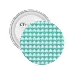 Solid White Hearts on Pale Tiffany Aqua Blue 2.25  Buttons