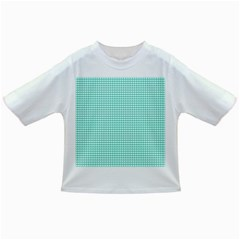 Solid White Hearts on Pale Tiffany Aqua Blue Infant/Toddler T-Shirts