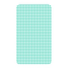 Solid White Hearts on Pale Tiffany Aqua Blue Memory Card Reader