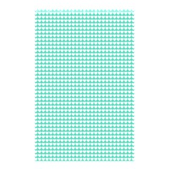 Solid White Hearts on Pale Tiffany Aqua Blue Shower Curtain 48  x 72  (Small)